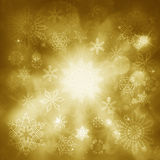 Christmas luxuty background with snowflakes and lights. Stock Photo
