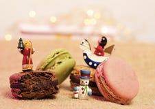 Christmas macaroons stock photography