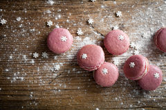 Christmas macaroons Stock Photo