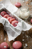Christmas macaroons Stock Images