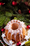 Christmas madeira cake Royalty Free Stock Photo