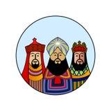 Christmas Magi. Three Kings decal Stock Photos