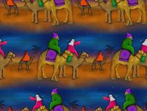 Christmas Magi Background Painting Royalty Free Stock Image