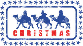 Christmas Magi Rubber Stamp Royalty Free Stock Photo
