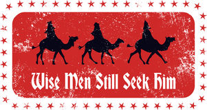 Christmas Magi Rubber Stamp Stock Photos