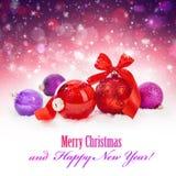 Christmas magic balls Stock Photos