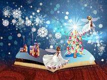 Christmas Magic Book Royalty Free Stock Photography