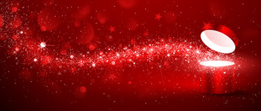 Christmas magic box Stock Images
