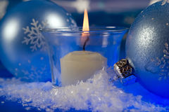 Christmas magic candle Royalty Free Stock Image