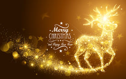 Christmas Magic Deer royalty free illustration