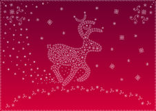 Christmas magic deer (Vector) Stock Image