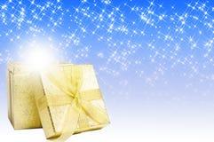 Christmas magic gift royalty free stock photos
