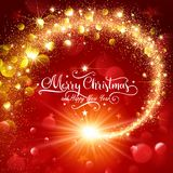 Christmas Magic Glittering Star Royalty Free Stock Photography