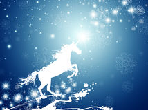 Christmas Magic Horse Royalty Free Stock Photography