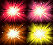 Christmas Magic Lights Explosion Royalty Free Stock Photos