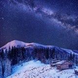Christmas magic night. Ukraine, Europe Royalty Free Stock Images
