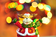 Christmas magic with Rudolph Royalty Free Stock Photography