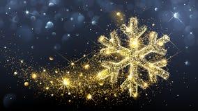 Christmas magic snowflake Stock Photography