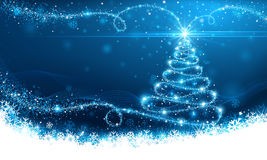 Christmas magic tree Stock Images