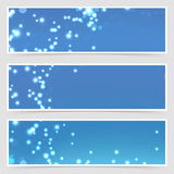Christmas magical glitter modern flyer set Royalty Free Stock Photography
