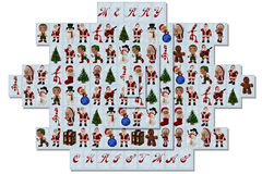 Christmas mah-jong Stock Images