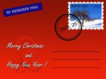 Christmas mail Stock Image