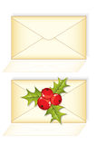 Christmas mail envelope letter Royalty Free Stock Images