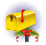 Christmas Mailbox Stock Photos