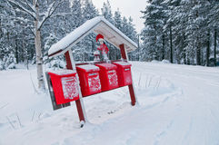 Christmas mailboxes Royalty Free Stock Photography