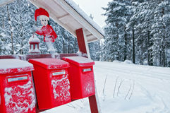Christmas mailboxes Stock Photography