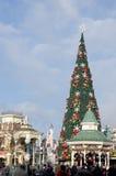 Christmas on Main St, Disneyland Paris in France stock image
