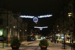 Christmas on Main Street Stock Photos
