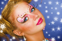 Christmas make up Royalty Free Stock Photography