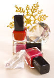 Christmas Make up. Sexi reds Royalty Free Stock Photo