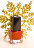 Christmas Make up. Sexi reds Royalty Free Stock Photos