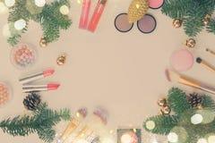 Christmas Make Up Cosmetics Stock Images
