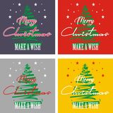Christmas Make A Wish For Background Vector stock illustration
