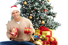 Christmas man Stock Images