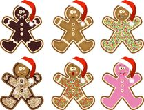 Christmas man cookies Royalty Free Stock Image