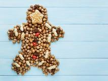 Christmas man Stock Image