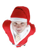 Christmas man in Santa Claus clothes Stock Image