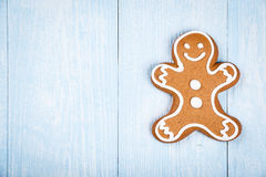 Christmas man-shaped cookie gingerbread Royalty Free Stock Photo