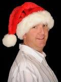 Christmas Man Smiling Stock Image