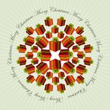 Christmas mandala background Royalty Free Stock Photo