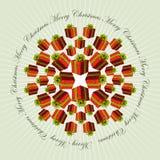 Christmas mandala background Royalty Free Stock Photo