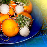 Christmas mandarin Royalty Free Stock Photos