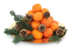 Christmas Mandarin Fruit Stock Images
