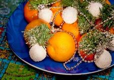 Christmas mandarin Royalty Free Stock Images
