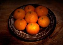 Christmas mandarin Stock Photography