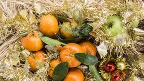 Christmas mandarines Stock Photo